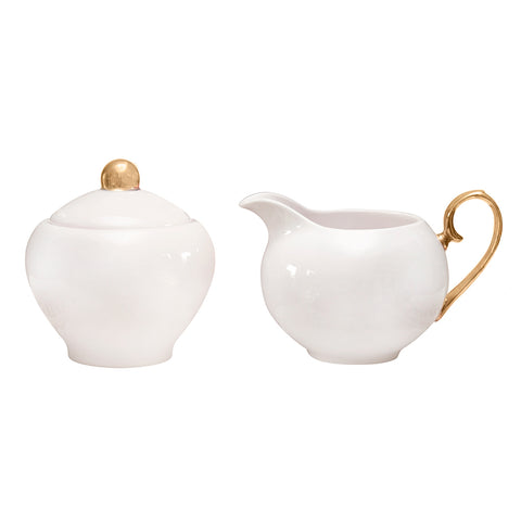 Sugar Bowl & Creamer Ivory - Cristina Re Designs