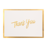 A6 Thank You Cards and Envelopes Gold Script PK10 - Cristina Re Designs