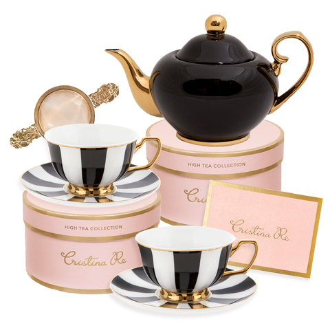 Ebony Tea for 2 Gift Set