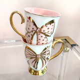 French Bow Mug Set - Set of 2
