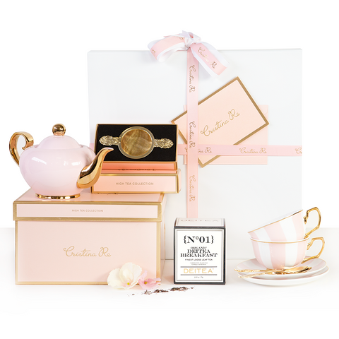 Deluxe High Tea Hamper - Blush Stripes
