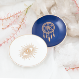 Dreamcatcher Trinket Dish - Navy & Gold - Cristina Re Design