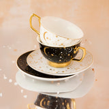 Teacup It's Written in the Stars Ebony & Gold