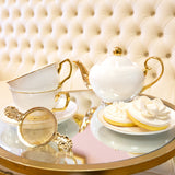 Two Cup Ivory Teaset