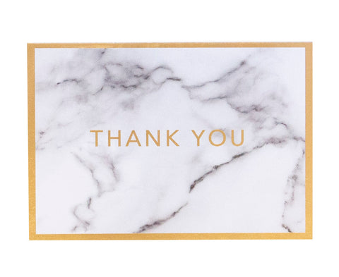 Marble Thank You Card (10 pack) - Cristina Re Design