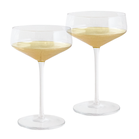 Coupe Estelle Gold Set of 2