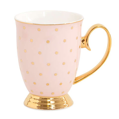 Mug Polka Gold Blush - Cristina Re Designs