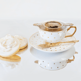 Teacup Polka Gold Ivory - Cristina Re Design