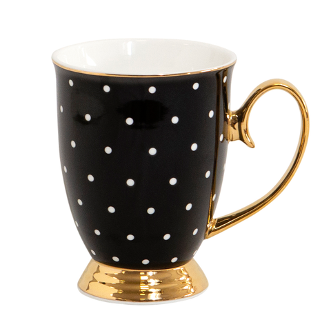 Mug Ebony Polka - Cristina Re Designs