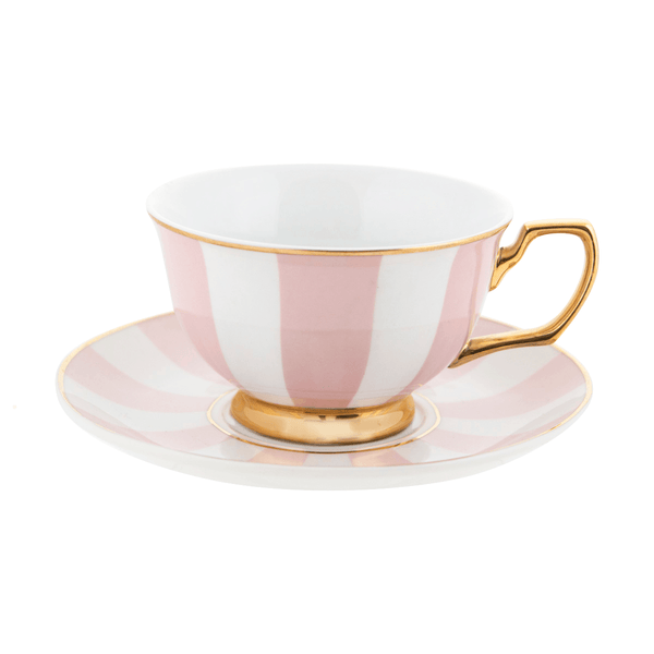 Teacup Blush Stripes - Cristina Re Designs
