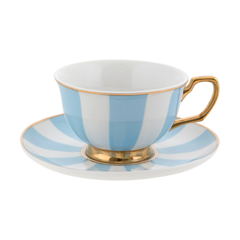 Teacup Powder Blue Stripes