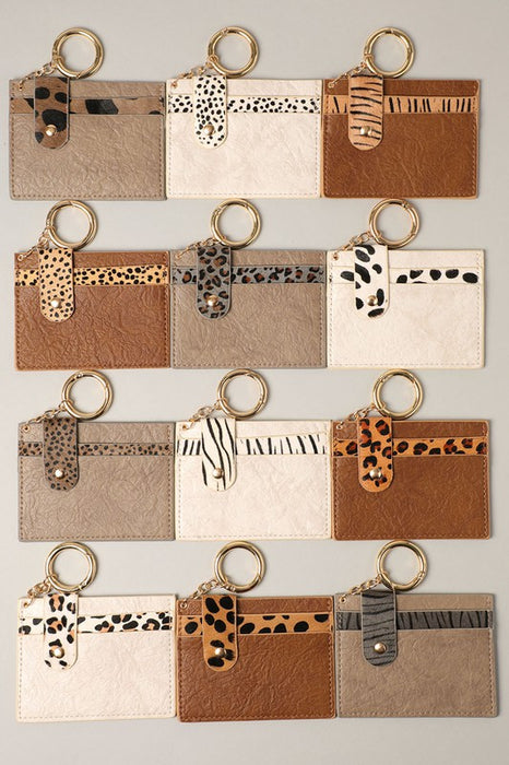 RUE CARD HOLDER-CHEETAH-GREY