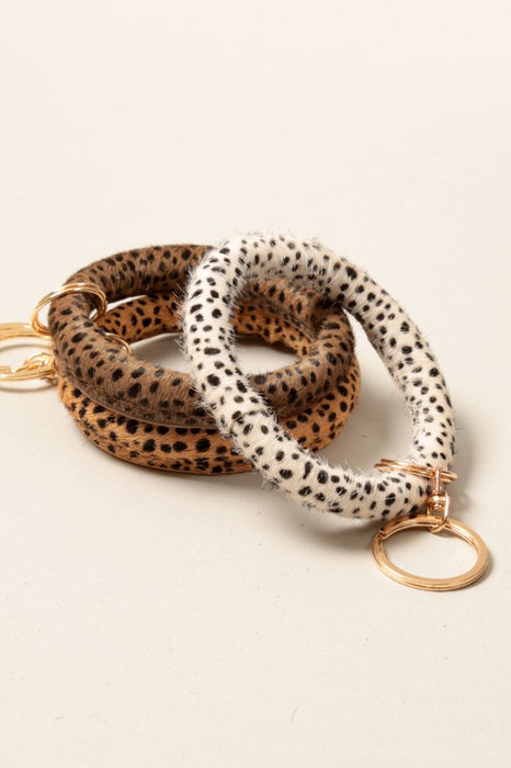 ZOLA KEY CHAIN-CHEETAH-BROWN