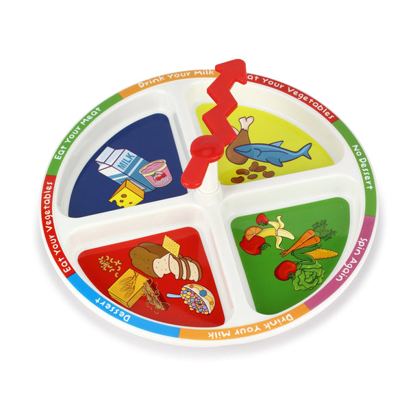 4-Square Meal Plate - Three LiL Monkeys Three LiL Monkeys
