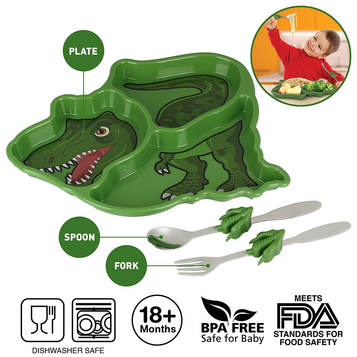 Me Time Meal Set T-Rex - Three LiL Monkeys Three LiL Monkeys