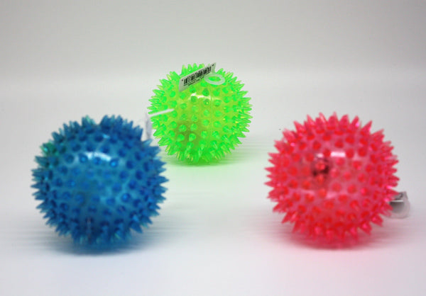 Rubber Spikey Light Up Ball - Three LiL Monkeys Three LiL Monkeys