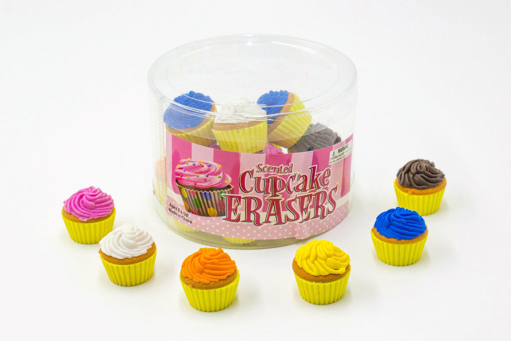 Scented Cupcake Erasers by the box