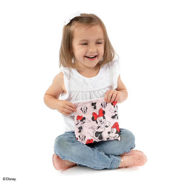 Minnie Mouse  Reusable Snack Bag - Three LiL Monkeys Three LiL Monkeys