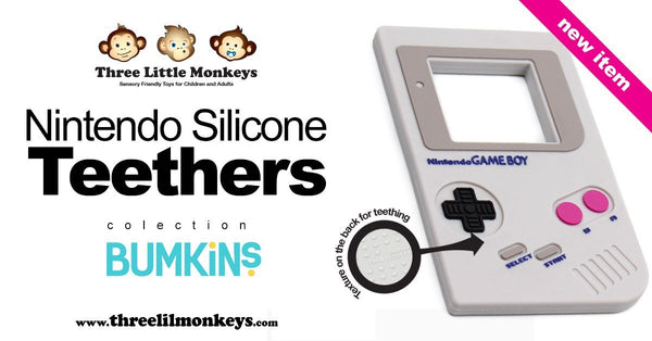Bumkins' Nintendo Gameboy Teether - Three LiL Monkeys Three LiL Monkeys