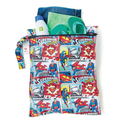 Superman Wet Bag - Three LiL Monkeys Three LiL Monkeys