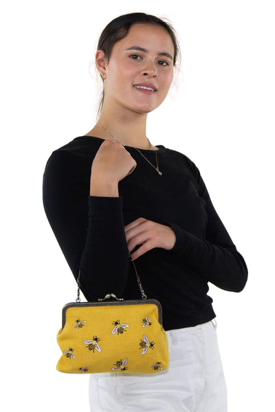 Bees Kisslock Bag