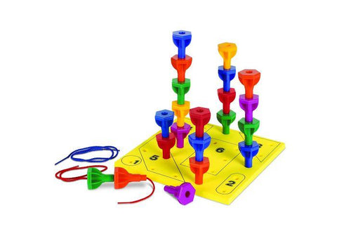 Rainbow Peg Play Activity Set - Three LiL Monkeys Three LiL Monkeys