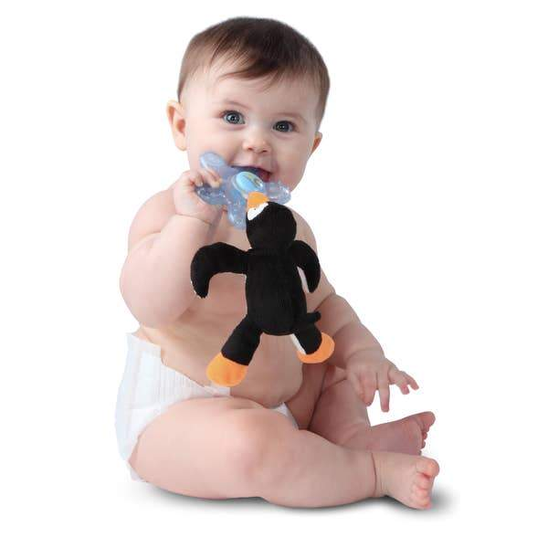 Paci-Plushies Buddies- Puck Penguin - Three LiL Monkeys Three LiL Monkeys