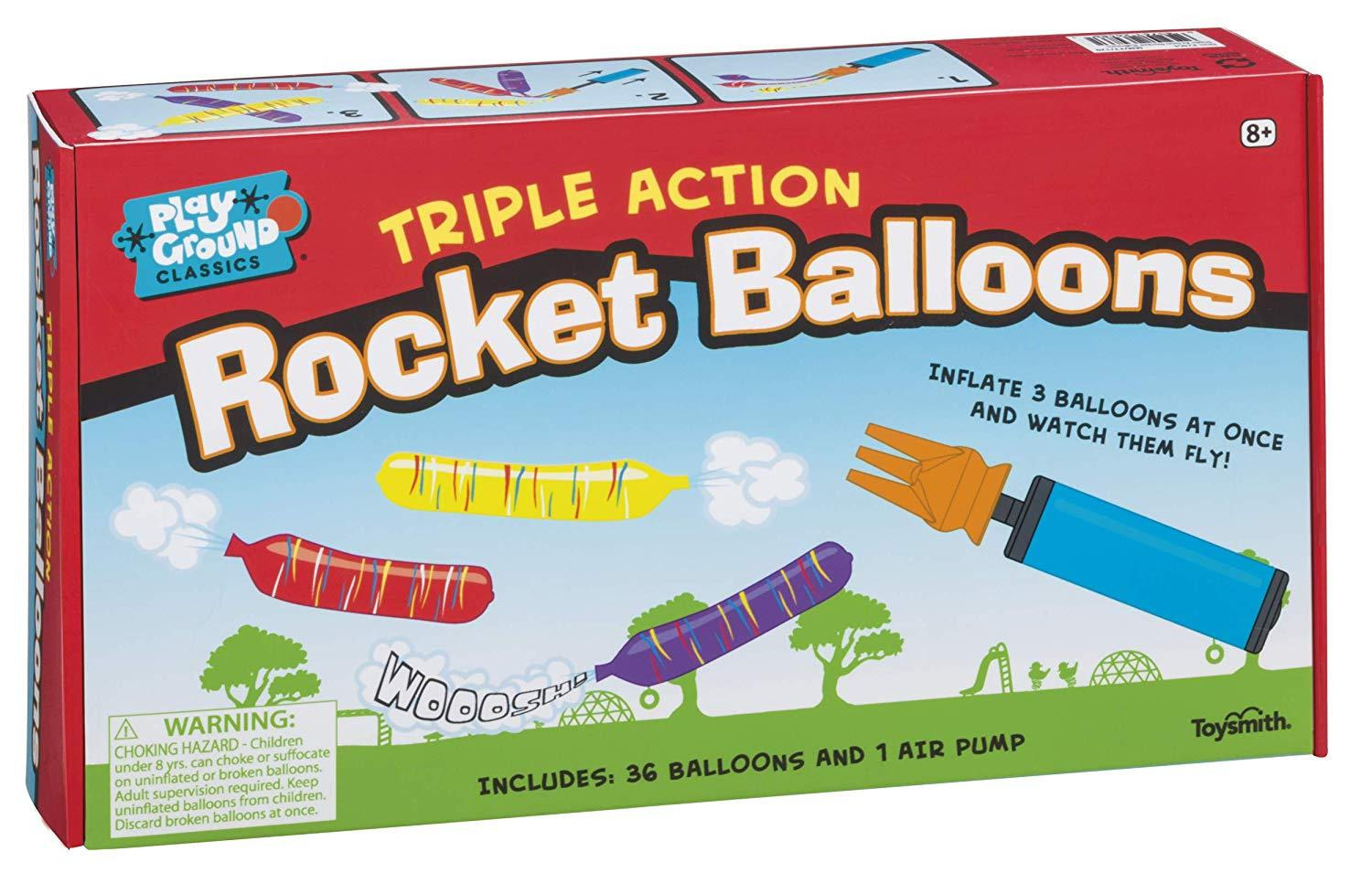 Triple Action Rocket Balloons - Three LiL Monkeys Three LiL Monkeys
