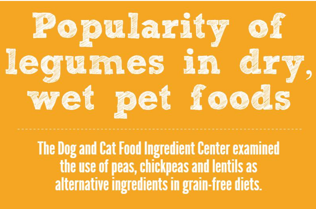Popular legumes in dry & wet pet foods