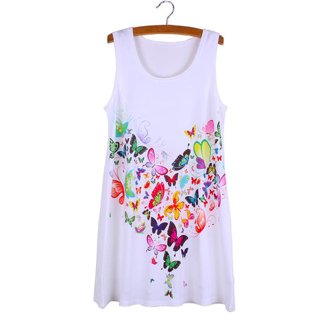 Colorful Butterflies Print Mini Dress
