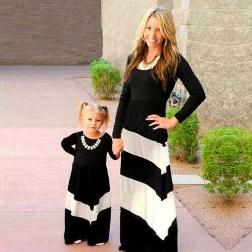 Contrast Color Stripe Dress