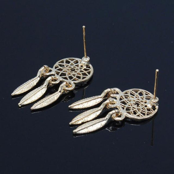 New Fashion Silver Plated Feather Drop Earring