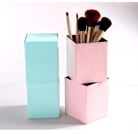 Empty Portable PU Leather Magnetic Make Up Brush Holder