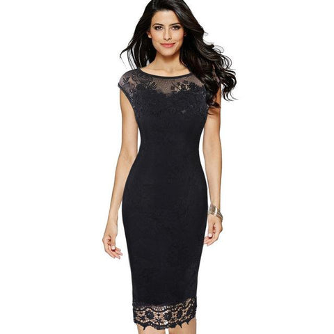 New Butterfly Sexy Lace Party Dress