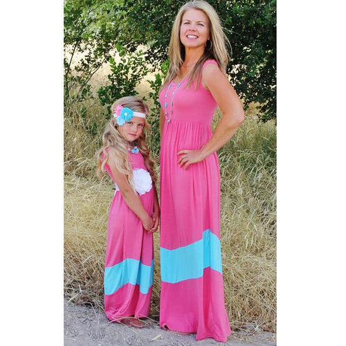 Summer Cotton Striped Mommy & Me Dress