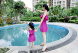 Cute SleevelessMom & Daughter Dress