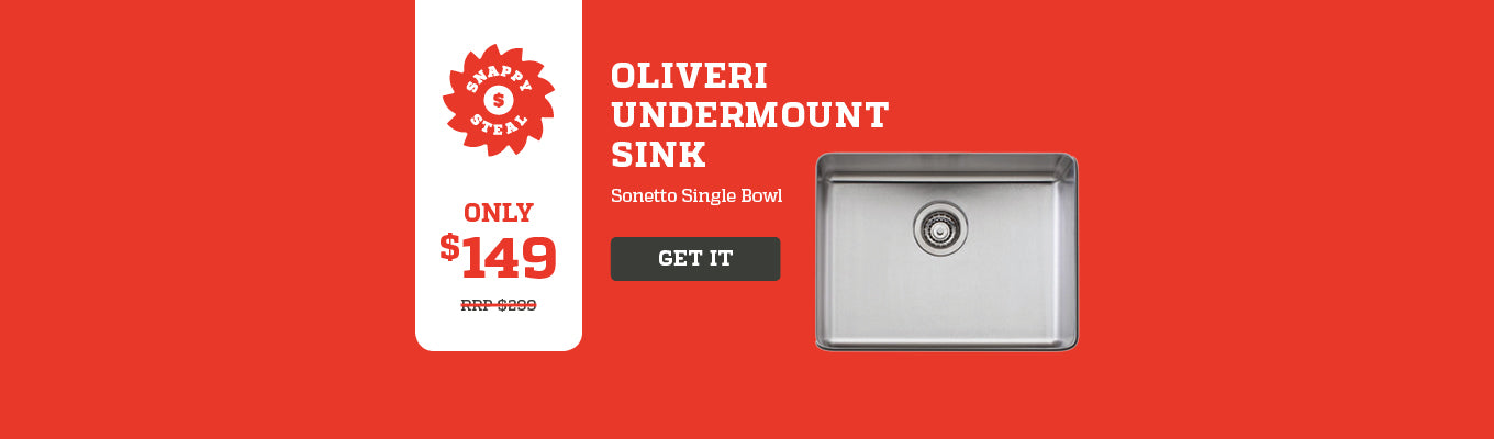 Snappy Steal - Oliveri Undermount Sink