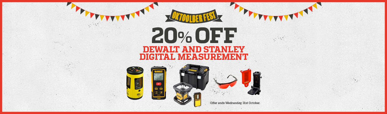 Home Banner - 20% off measuring and layout tools