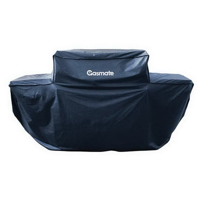 Deluxe 6 Burner Hooded BBQ Cover Black