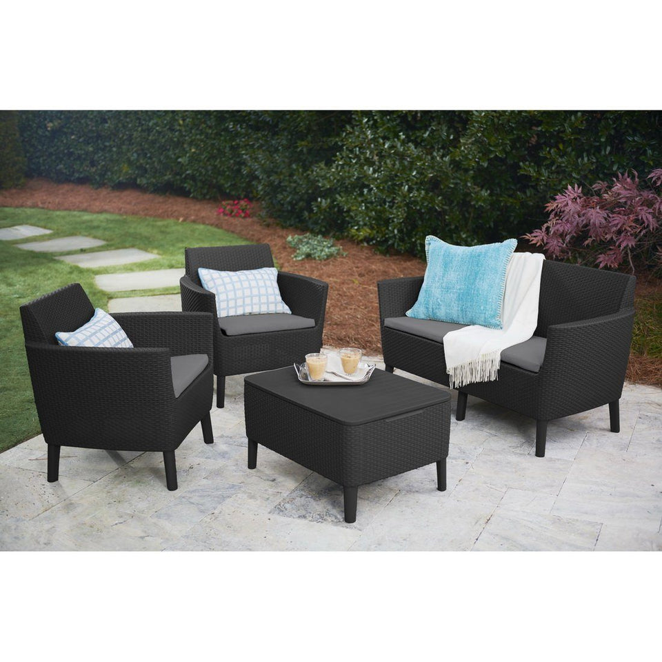 Salemo 2-Seater & Storage Table Lounge Set