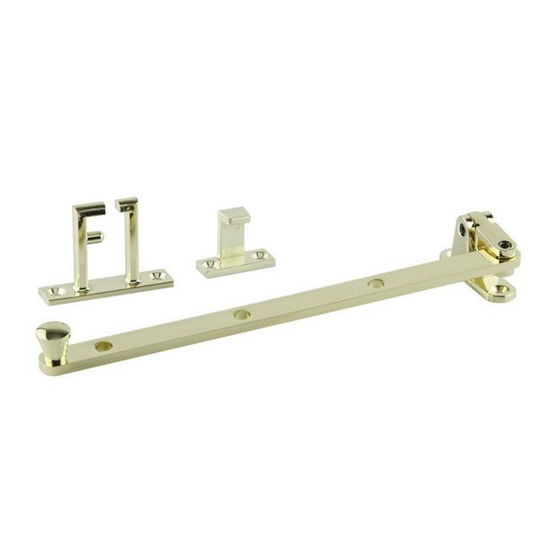 Small Side Hung Window Casement Stay 240mm Brass Plate