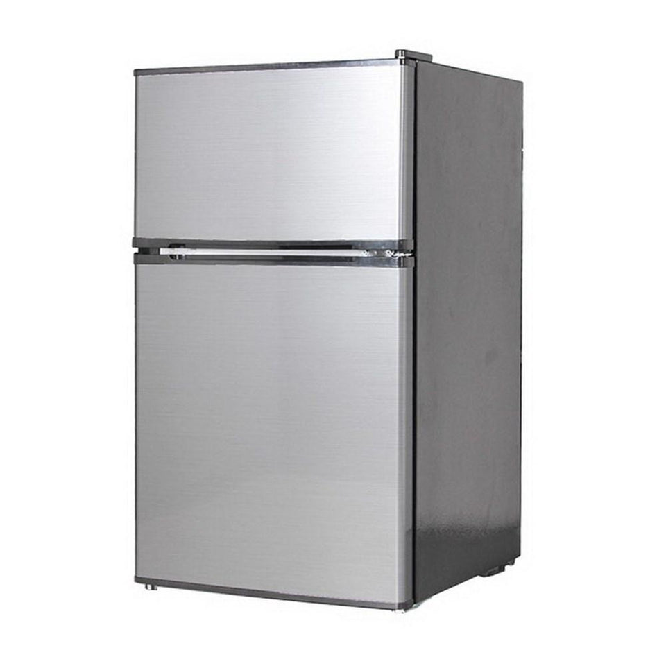 91L Top Mount Bar Fridge/Freezer Stainless Steel