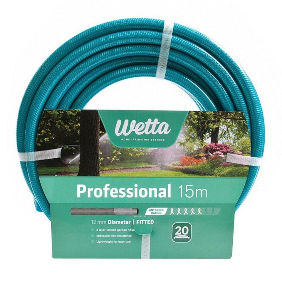Professional 15m Fitted Garden Hose