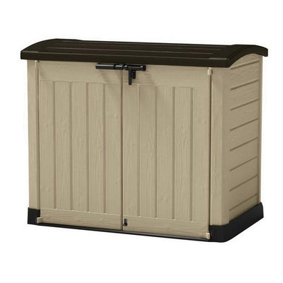 1200L Store-It-Out Arc Outdoor Packaging Storage Shed Brown/Beige