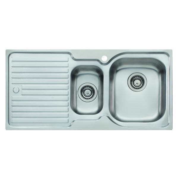 Elan Right Hand 1 & 1/2 Bowl Topmount Sink with Drainer 980 x 480mm