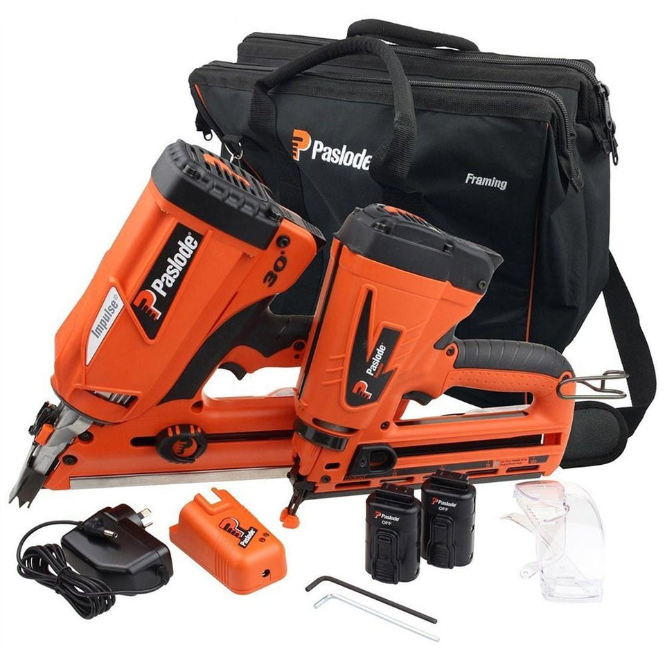 FrameMaster PowerVent Framing Nailer & TrimMaster Angled Bradder