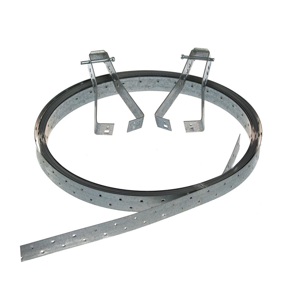 10m x 27mm Galvanised Strip Brace with Tensioners