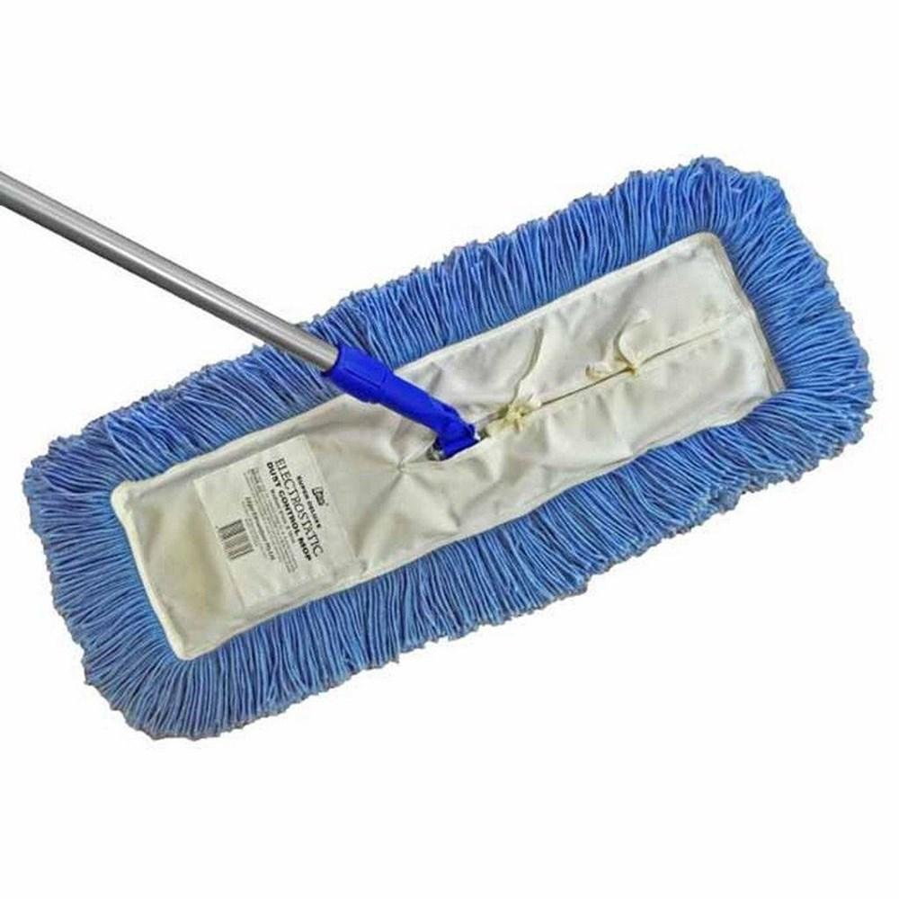 61 x 15cm Dust Control Mop Complete Swivel Head & Handle Blue
