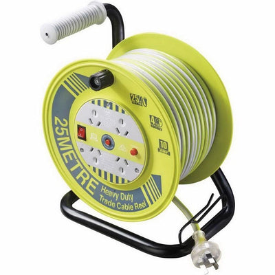 Trade 25m Hi-Vis Heavy Duty Cable Reel