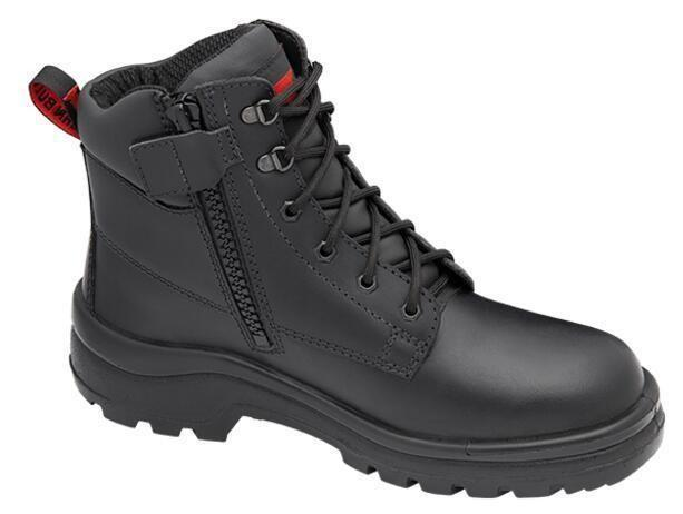 Elkhorn Leather Zip-up Safety Boots